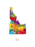 Idaho Map Photographic Print by Michael Tompsett