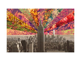 Flowers of New York Giclee Print by Bianca Green