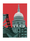 St Paul's Cathedral Impression giclée par Jennie Ing