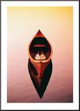 Deserted Canoe Mounted Print by Marty Loken