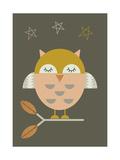 Pequeña lechuza Lámina giclée por Little Design Haus
