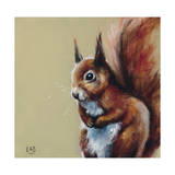 Bushy Tailed Wydruk giclee autor Louise Brown