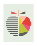 Geometric Apple Giclee Print by  Little Design Haus