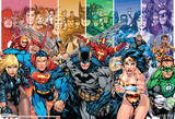 Justice League Of America Generations Group Team Comic Poster Pôsters