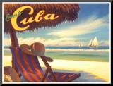 Escape to Cuba Mounted Print by Kerne Erickson