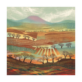 Quilted Earth Giclee Print by Rebecca Vincent