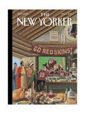 The New Yorker Cover - December 1, 2014 Premium Giclee Print by Bruce McCall