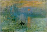 Claude Monet - Claude Monet Impression Sunrise 1872 Art Poster Print - Afiş