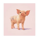 Pig Giclee Print by John Butler