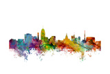 Lansing Michigan Skyline Prints by Michael Tompsett