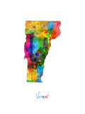 Vermont Map Photographic Print by Michael Tompsett