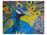 Poised Peacock 1 Prints