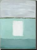 Azure Blue II Leinwand von Caroline Gold