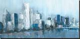Citylines Stretched Canvas Print by Cy Jones