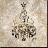 Champagne Chandelier Stretched Canvas Print by Marta G. Wiley