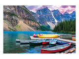 Lake Louise-Canoes on the Lake Art