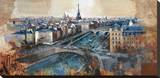Ciel de Paris Stretched Canvas Print by Marti Bofarull