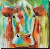 Misty Pasture Stretched Canvas Print by Amanda J. Brooks