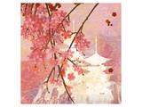 Cherry Blossom Pagoda Poster