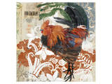 Rococo Rooster Stampe