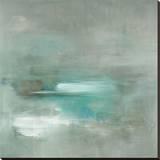 Misty Pale Azura Sea Leinwand von Heather Ross