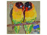Lovebirds Yelllow Posters