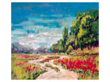 Poppy Path II Print