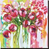 Razzle Dazzle Tulips Reproduction transférée sur toile par Amanda J. Brooks