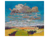 Patchwork Fields&Summer Clouds Poster