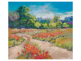 Poppy Path Print