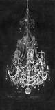 Paris Chandelier on Black 2 Prints by Morgan Yamada