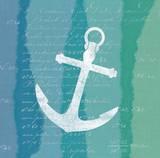 Ombre Ocean Anchor Poster by Meili Van Andel