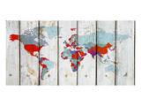 World Map Ix Plakat