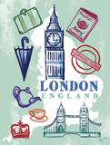 My London Trip Print by Bella Dos Santos