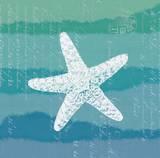 Ombre Ocean Starfish Prints by Meili Van Andel