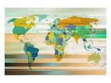 Modern World Map III Plakater