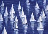 Blue Regatta Posters by Marita Freeman