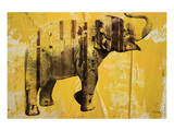 Yellow Elephant Posters