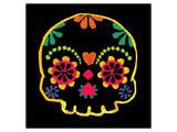 Sugar Skull Velvet Print by Rosa Mesa