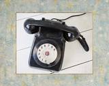 Back In Time Black Telephone_border Poster by  Susannah Tucker Photography