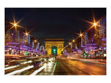 Bustling Paris at Night Prints