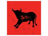 Pamplona Bull V Print by Rosa Mesa