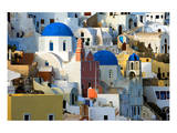 The village of Oia by day Posters