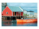 Red boathouse, Peggy's Cove Posters