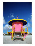 Lifeguard Tower in South Beach Posters