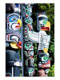 Stanley Park Totem Poles Poster