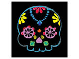 Sugar Skull Velvet II Art by Rosa Mesa
