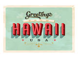Greetings From Hawaii Print