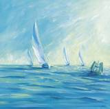 Perfect Day for Sailing Print by Naula Whales