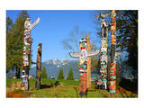 Totem's Poles in Stanley Park Posters